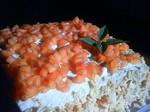バナナと柿の米粉ケーキ